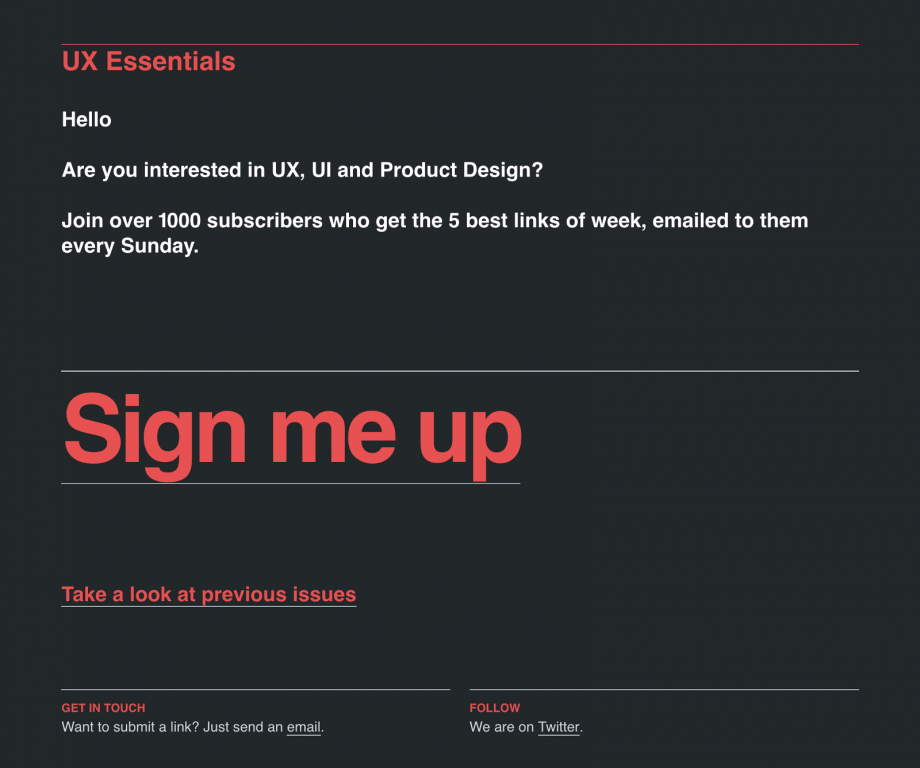 UX Essentials Newsletter