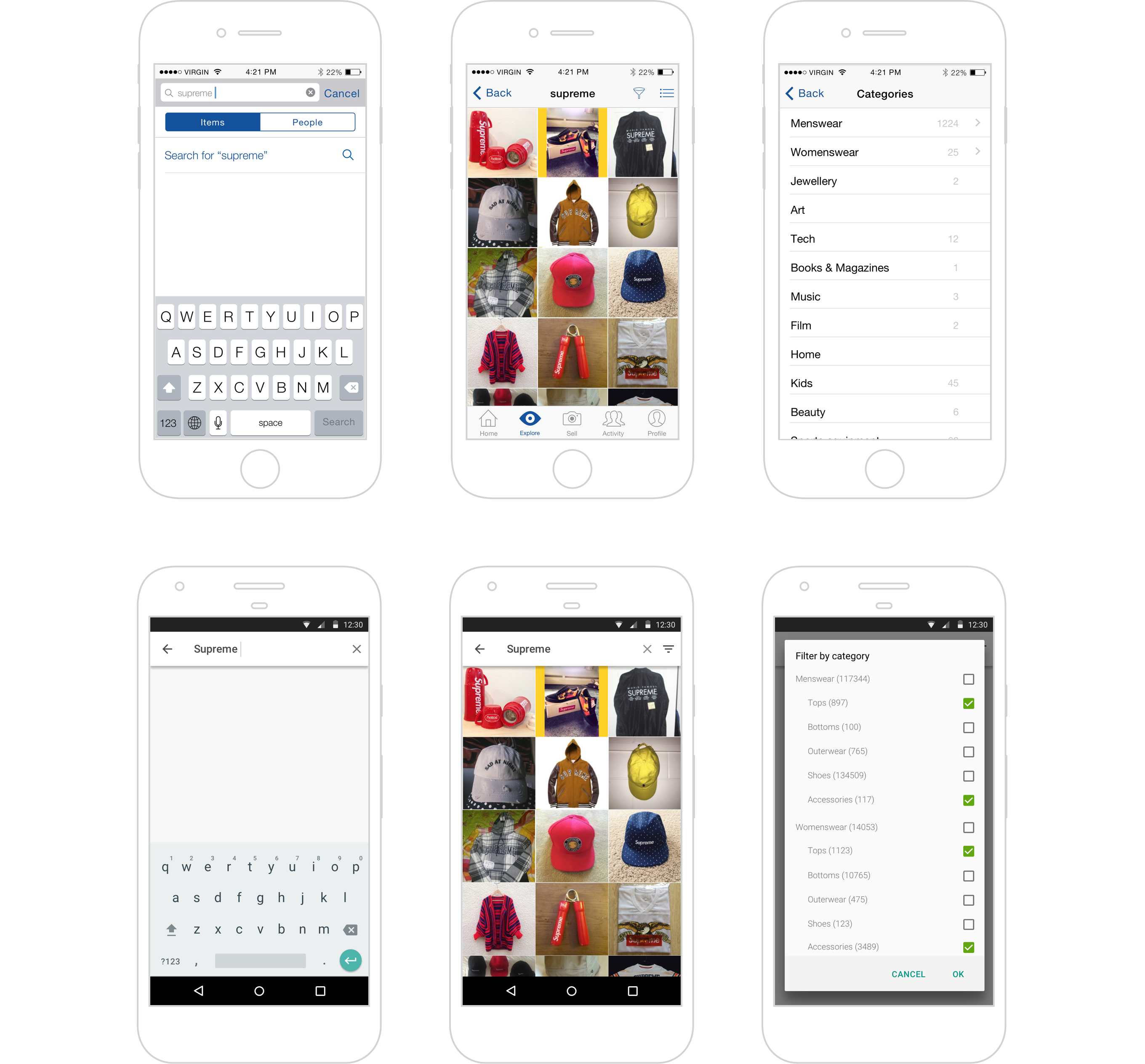 Depop iOS and Android apps